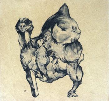 Sans titre, fusain sur papier, 30x30 cm, 2013