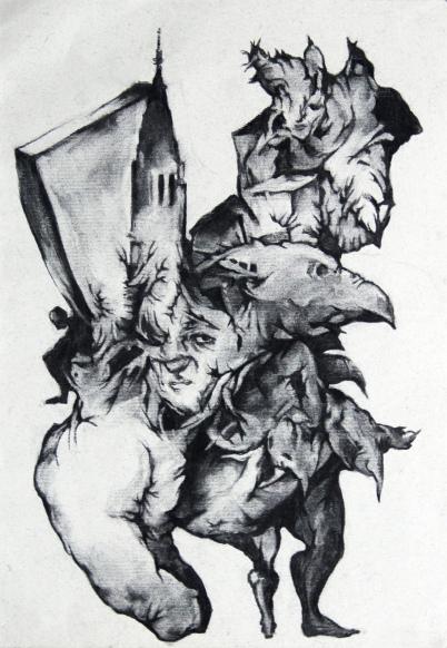 Sans titre, fusain sur papier, 34x24 cm, 2013