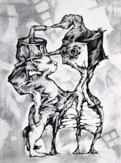 Sans titre, fusain sur papier, 38x28 cm, 2013
